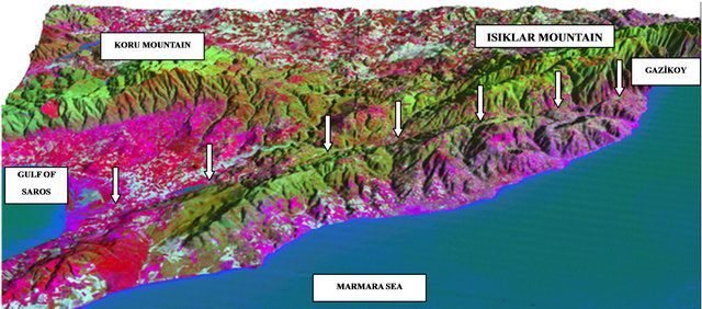 Analysis of an Active Fault Geometry Using Satellite Sensor and DEM Data: Gaziköy-Saros Segment (NAFZ), Turkey