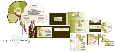 Paper Crew: The Cymbidium Orchid Wedding Invitation Set