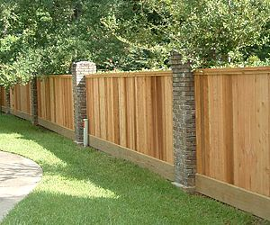 Wood And Stucco Fence Google Search Landscaping