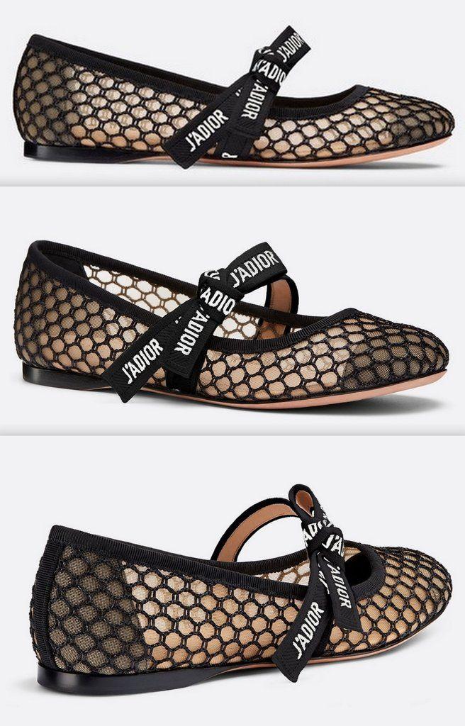 461e8128b Miss J'Adior Mesh Ballet Flat Pumps in 2019   DESIGNER FOOTWEAR ...