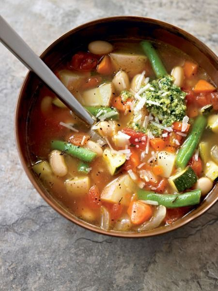 Minestrone –Check out this healthy soup recipe that's packed with fat-fighting veggies!