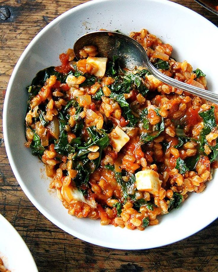 Ottolenghi 's barley risotto with feta