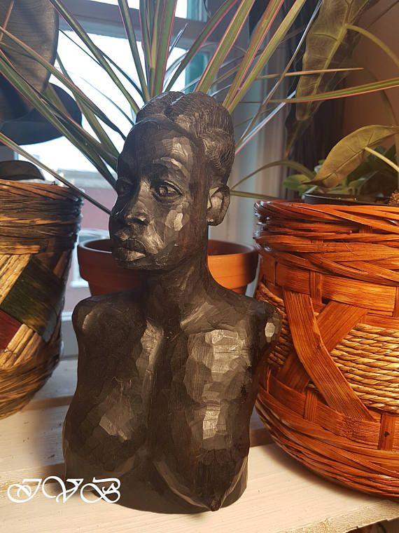 African hand carved wooden sculpture #africa #handmade #homedecor