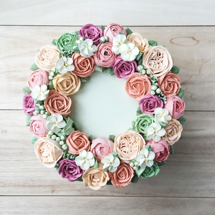 69 Best Images About Buttercream Flower Cakes On Pinterest