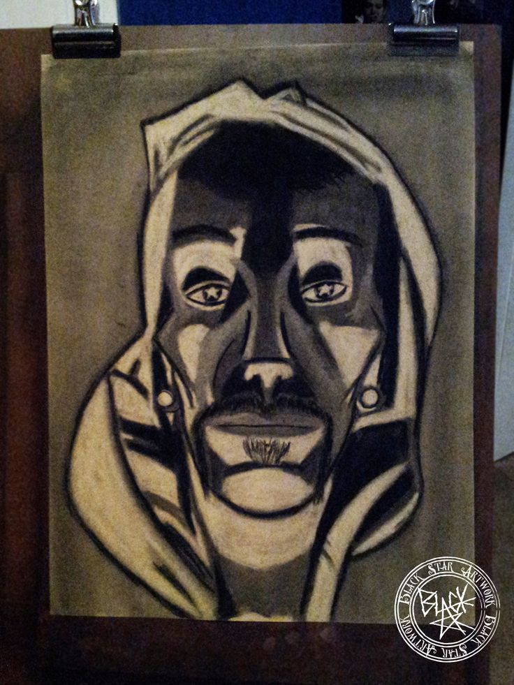 """Self Portrait #1"" Charcoal on paper Black Star Artwork by Leonard Walsh  www.facebook.com/BlackStarArtwork http://bit.ly/1bCN2xI"