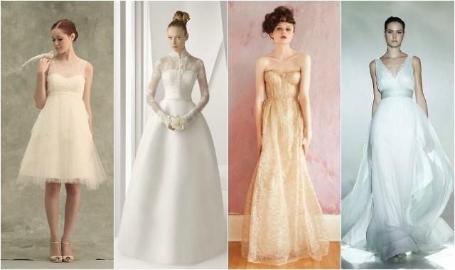 Noivas sem curvas? Saibam quais são os cortes ideais para os vossos vestidos de noiva