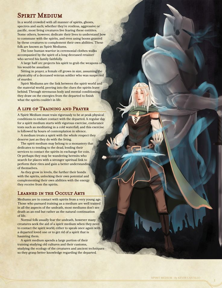 DnD 5e Homebrew — Spirit Medium Class by Kexxar