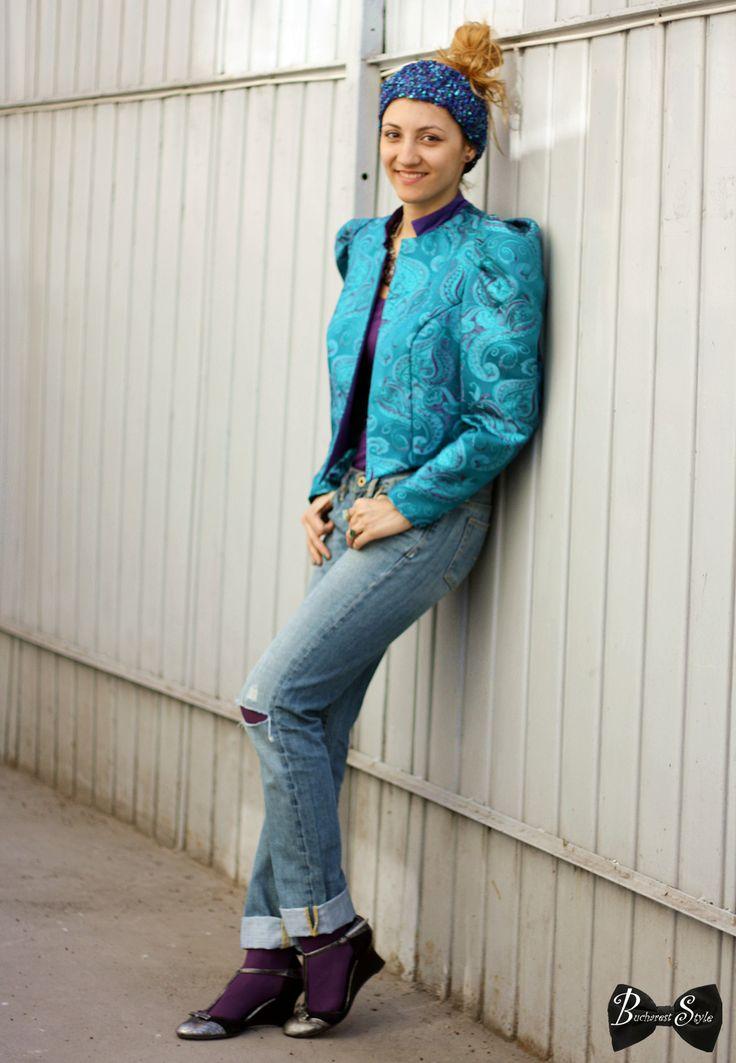 vintage vibe, vintage, bucharest style, bucharest street style, '80 jacket