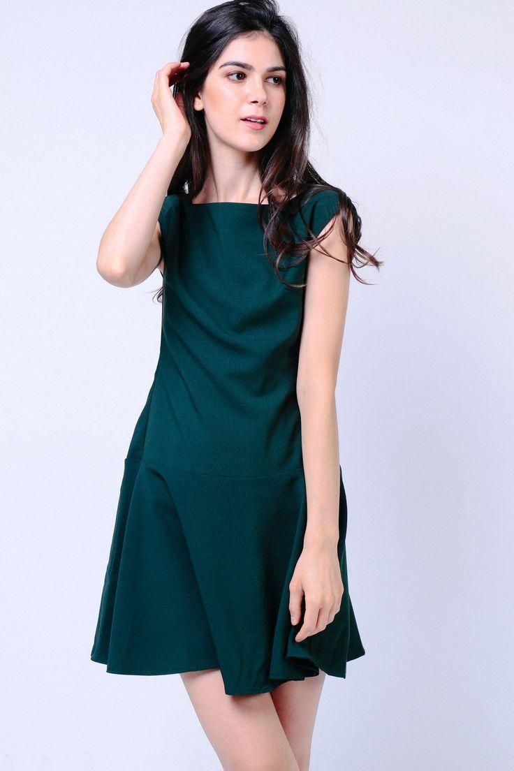 Drop Waist Dress (Green) Image 0