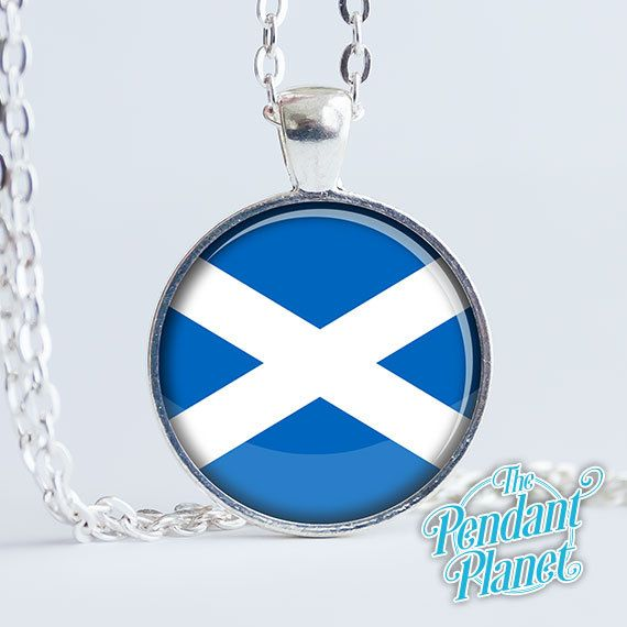 Scottish flag jewelry St Andrews Cross pendant flag of Scotland Saltire gift for Scots gifts of home gift for herself by ThePendantPlanet