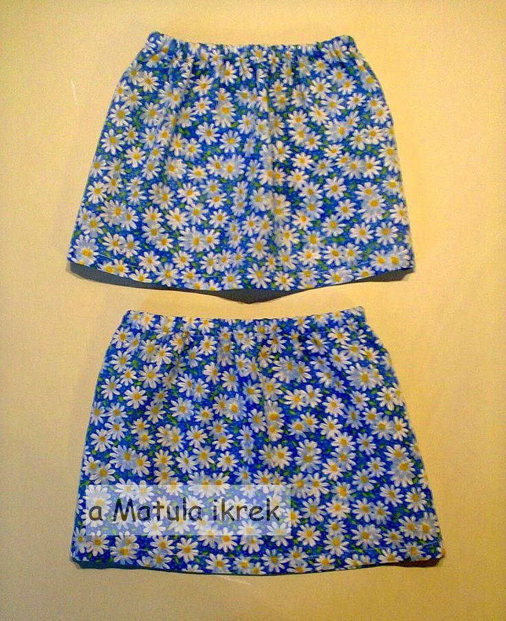 a Matula ikrek blogja (avagy... Mit varrnak a Matula ikrek?) simple gathered skirts for twins