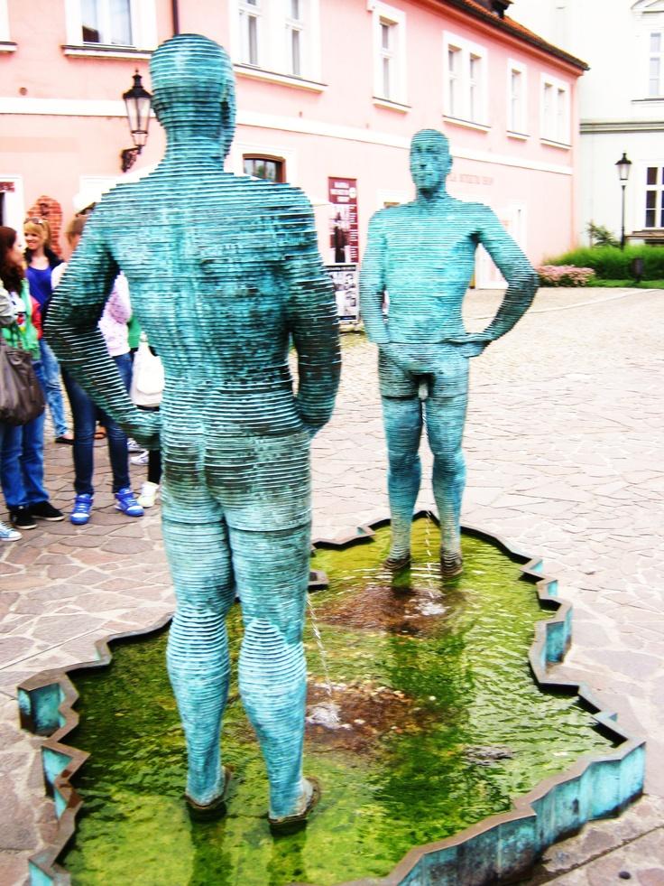 Cerny Statue, Prague, Czech Republic