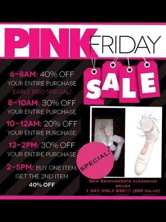 I'm turning Black Friday into PINK FRIDAY. Contact me on my website on Friday, November 27, 2015 to receive these fantastic deals! Jennifer Emanuel, Mary Kay Sales Director Website: www.marykay.com/jennemanuel Facebook: www.facebook.com/jenniferemanuelmk