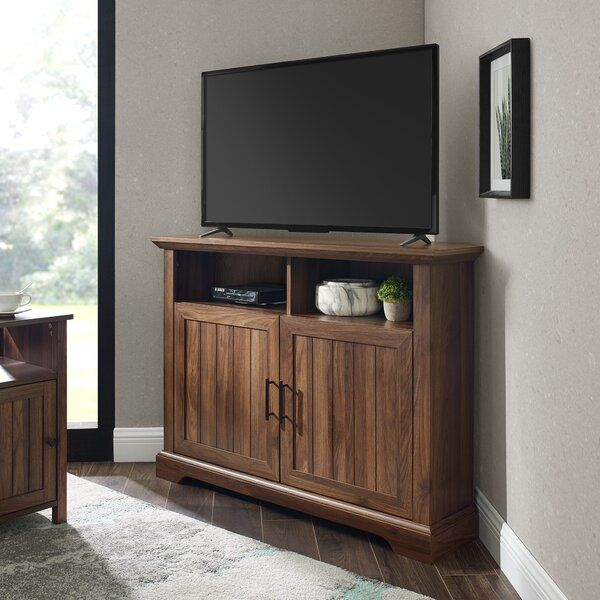 Delacora Bitv001bn Alexis 48 Inch Wide Wood Build Com In 2021 Tv Stand Wood Tv Stand Cool Tv Stands
