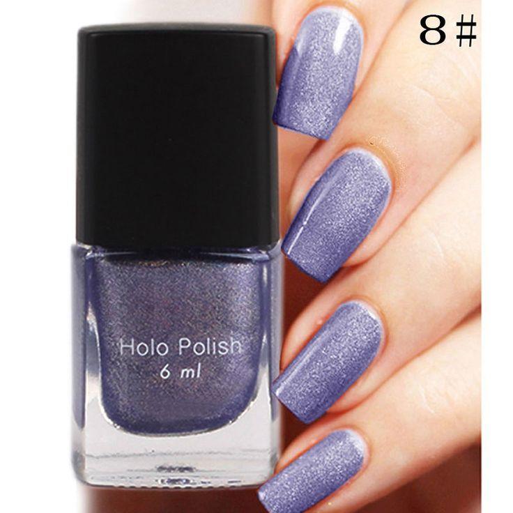 Hot Sale 6ml 12 Color Long Lasting Nail Polish Nail Hologram Holographic Polish Holo Nail Polish Holo Gel Nail Art Polish aliexpress.com