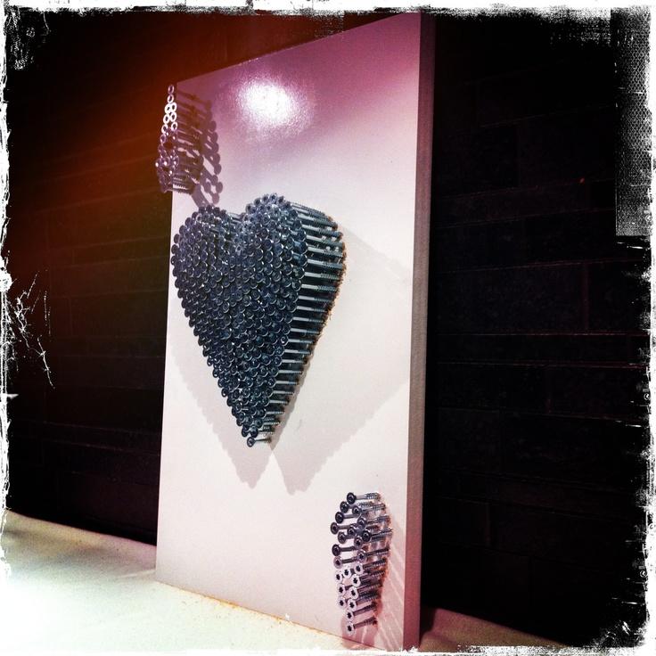 """Cli Stone Art, Card Series, """"Ace of Hearts Convex"""" www.clistone.com"""