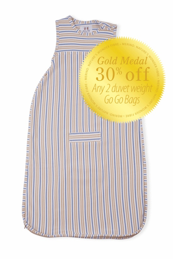 You and Baby - GOLD MEDAL - Any two duvet weight Go Go Bags, $199.00 (http://www.youandbaby.com.au/gold-medal-any-two-duvet-weight-go-go-bags/)