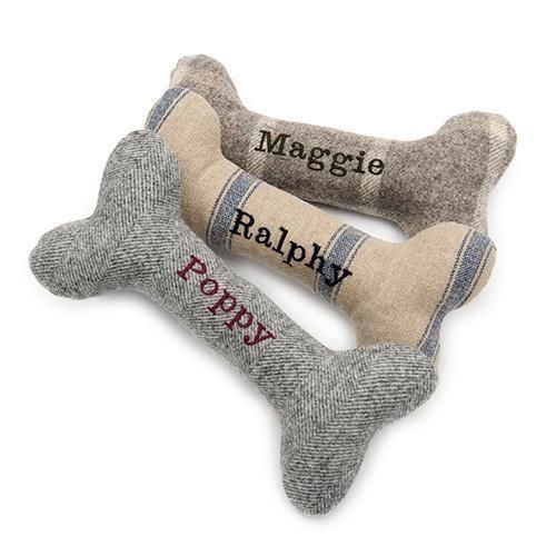 Personalised Squeaky Bone Dog Toys Small Dog Toys Dog Gifts