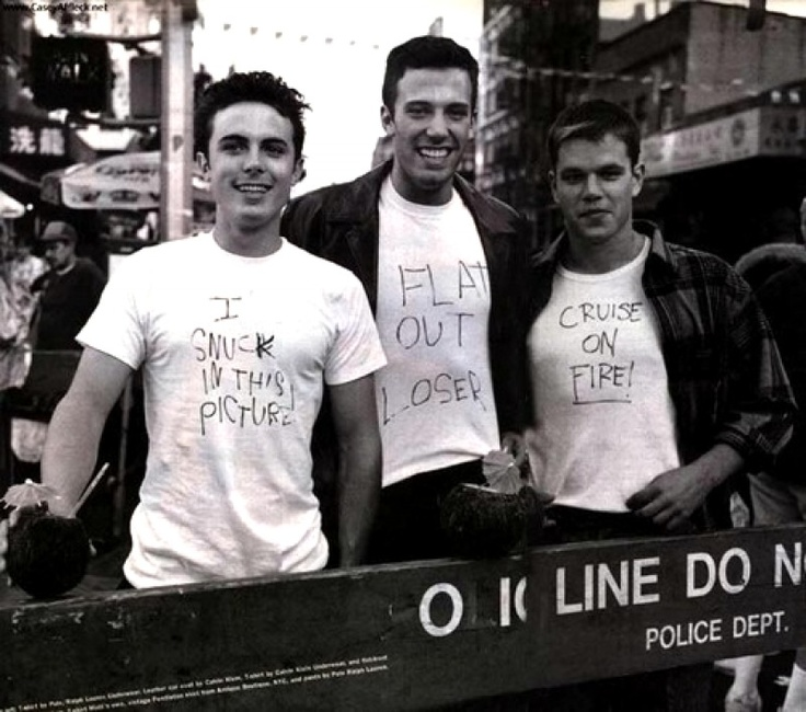 Casey Affleck, Ben Affleck, & Matt Damon
