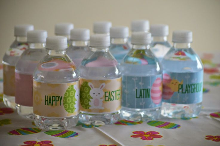 Etiquetas personalizadas para Easter !! Para pitillos, mini chocolates, Botellas de agua, Toppers Cupcakes, Tarjetas de Invitacion,