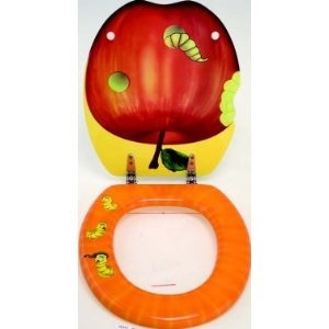 Apple MDF Novelty Toilet Seat