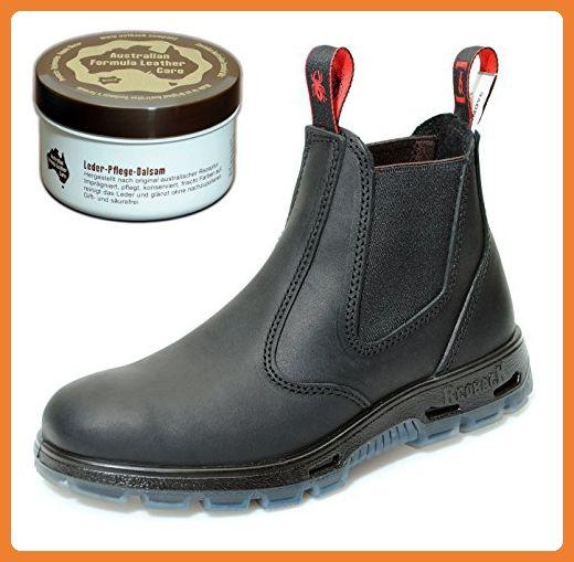 Redback UBBK Work Boots aus Australien - Unisex + 250 ml Lederpflege | Black | UK 3.0 / EU 36.0 - Stiefel für frauen (*Partner-Link)