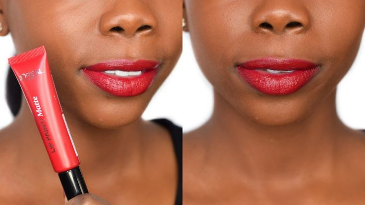 L'Oreal Paris Apocalypse Red Infallible Matte Lip Paint - Review and Dark Skin Swatch -  Epiphanniea.co.uk - @Epiphanniea - Red Lipstick