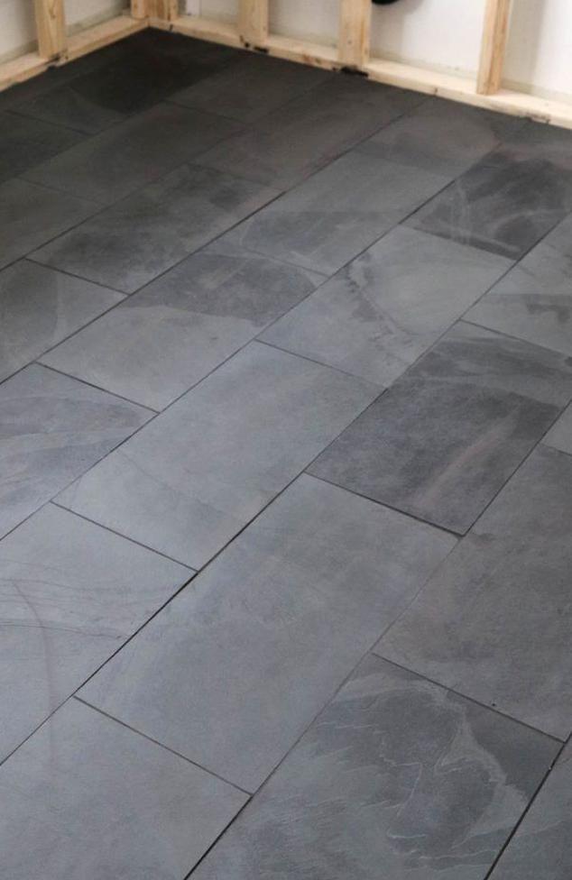 Black Tile In The Laundry Roomor Dark Dark Brown In 2020 Black Floor Tiles Laundry Room Flooring Bathroom Tile Designs