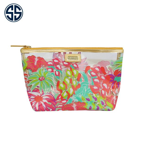 Simply Southern Jungle Print Clear Cosmetic Bag