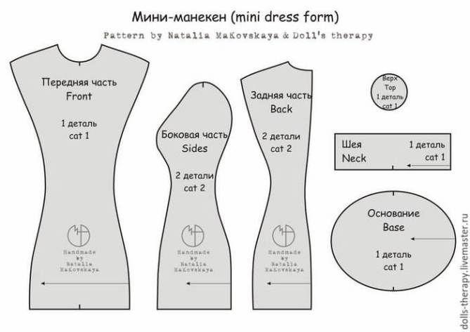 Patrón para hacer un mini-maniquí   ropitas de muñecas   Pinterest