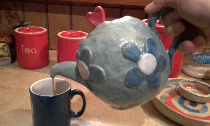 teapot in use