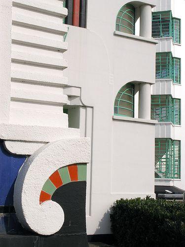 Detail: Art Deco - Hoover Building, London, UK.
