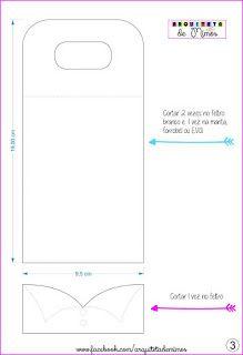 Moldes para Feltro: Carregador de Celular