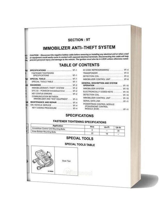 Daewoo Nubira J100 Factory Service Manual In 2020 Daewoo Manual Forklift