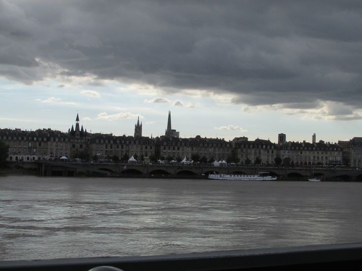 View across the River Garonne to the north bank Bordeaux France