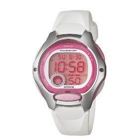 Casio Womens Illuminator Digital Watch with White Band