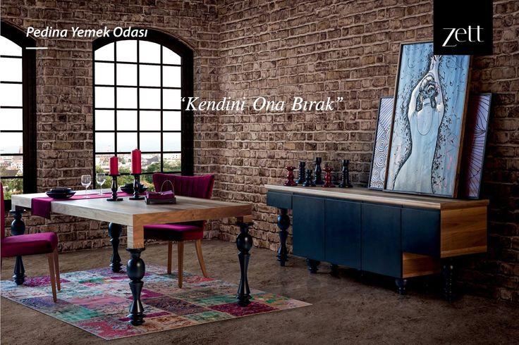 Pedina Yemek Odası, özel tasarım ayakları, lüks kadife sandalyeleri ve farklı modül seçenekleri ile davetkar bir atmosfer yaratıyor.  #zettdekor #mobilya #furniture #ahşap #wooden #yatakodasi #bedroom #yemekodasi #diningroom #ünite #tvwallunits #yatak #bed #gardrop #wardrobe #masa #table #sandalye #chair #konsol #console #dekor #decor #dekorasyon #decoration #koltuk #armchair #kanepe #sofa #evdekorasyonu #homedecoration #homesweethome #içmimar #icmimar #evim #home #inegöl #bursa #turkey