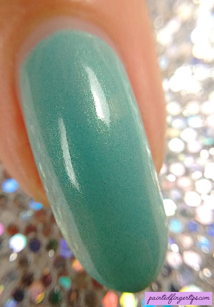 Painted Fingertips | Swatch - Blue-Eyed Girl Lacquer Monster's Tea at Tiffany's macro