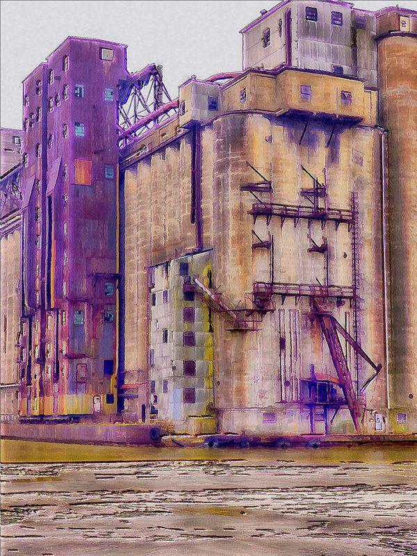 Grain Elevator - Buffalo Ny Art Print by Leslie Montgomery.