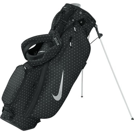 Nike Ladies Sport Lite Carry/Stand Golf Bags - Black/Silver/Print (Dots)