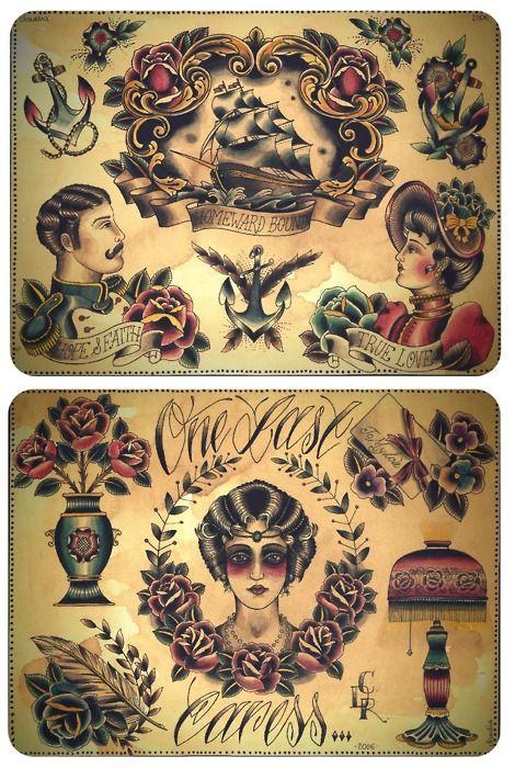 Traditional Tattoo Flash Tattoo Flash Art Pinterest