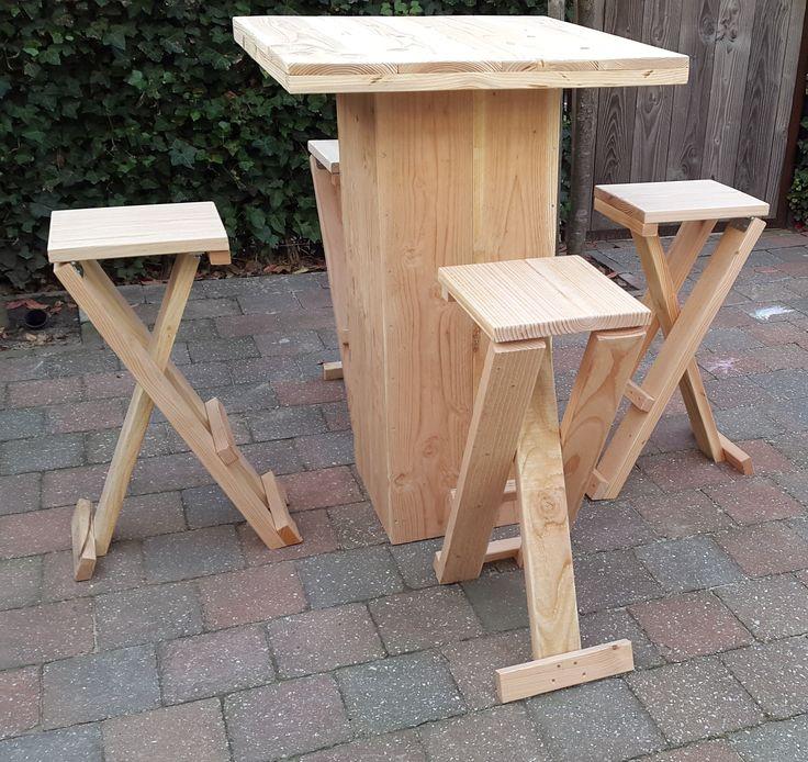 11 beste afbeeldingen van houten statafels en barkrukken for Houten bartafel