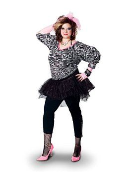 Sunnywood Women's Plus-Size Lava Diva Hip Hop 80's Costume
