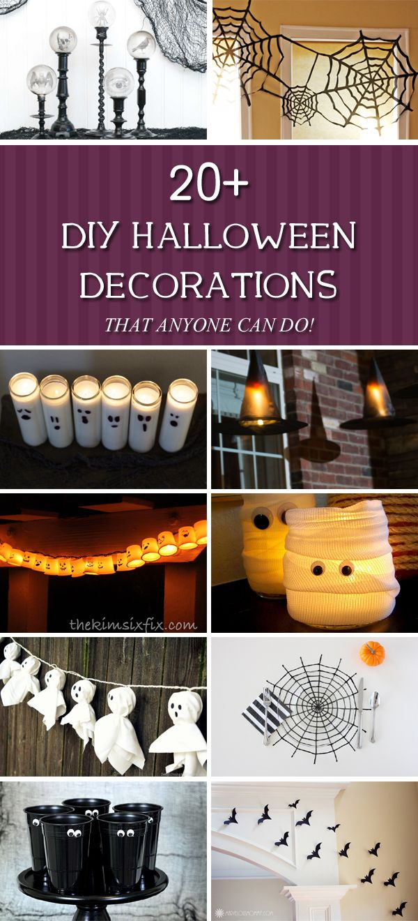 20+ Amazing DIY Halloween Decorations That Anyone Can Do!