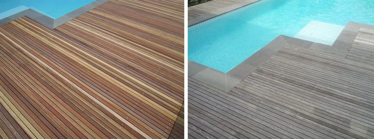 Spotted gum decking new and silvered