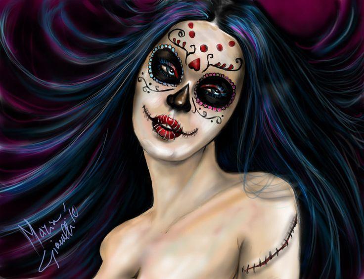 sugar skull makeup wallpaper - photo #21