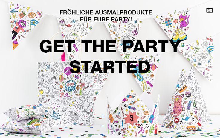 Alles für die Ausmalparty: Colouring Activity! #Rico Design #ausmalen #DIY #kreativ #creative #Colour up your life!