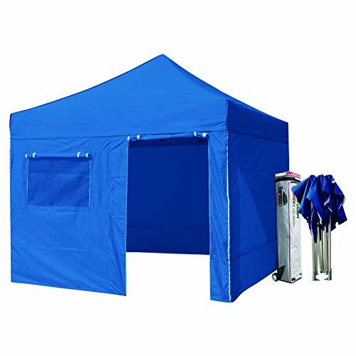 Eurmax 10x10 Pop up 4 Wall Canopy Tent Gazebo Ez and Heavy Duty Roller Bag, Blue -- Click affiliate link Amazon.com on image to review more details.