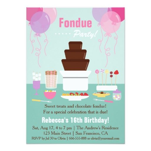 410 best Chocolate Birthday party Invitations images on ...