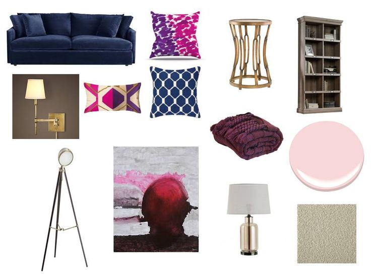 navy, pink and gold so glam ! Interior decorating. home decor. home decoration. home styling. e-decor